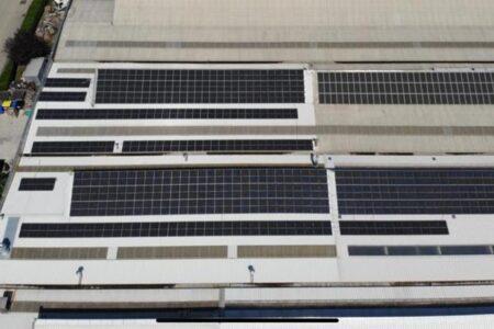 impianto fotovoltaico da 110 kwp realizzato con pannelli Trinasolar da 335w, ottimizzatori e inverter SolarEdge