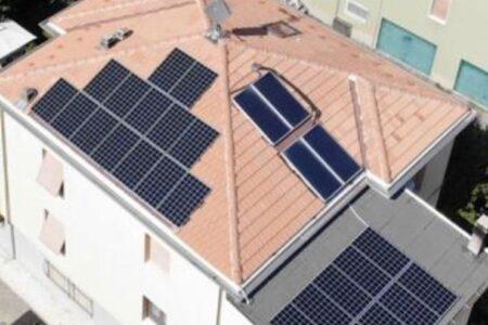 Impianto privato da 7,2 kwp realizzato con pannelli SolarEdge con ottimizzatore integrato einverter SolarEdge.